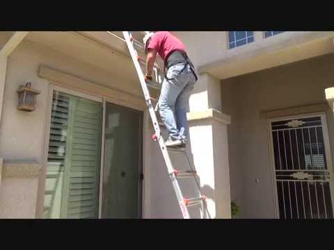 How To Safely Get Up On A Roof Youtube