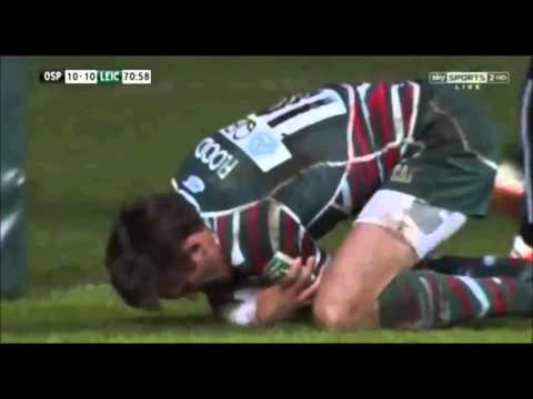 Toby Flood Runs Into Post