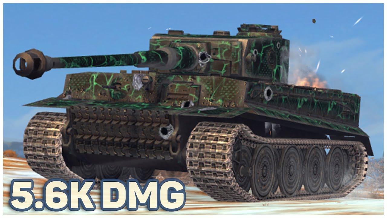 Tiger I • 5.6K DMG • 6 KILLS • WoT Blitz