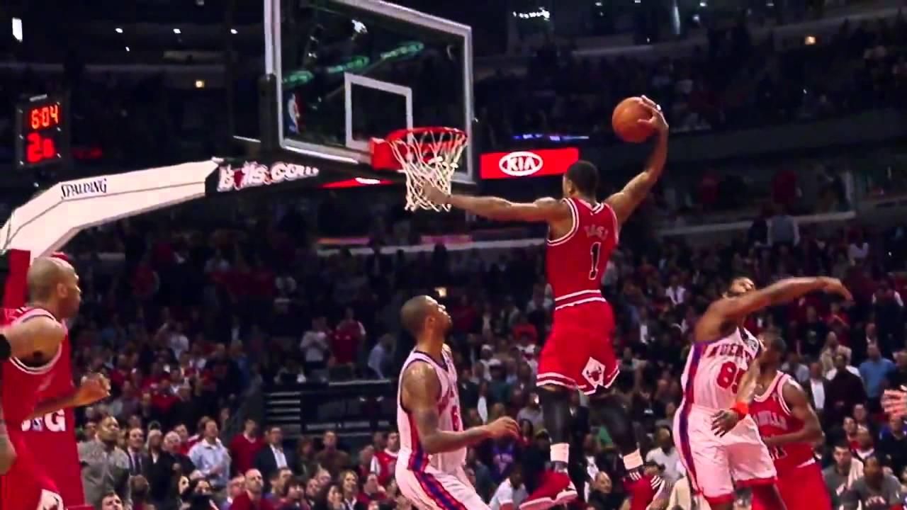 Derrick rose dunk vs knicks youtube - Derrick rose wallpaper knicks ...