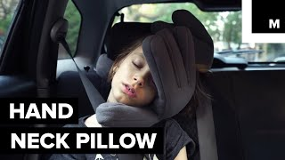 This Travel Pillow Looks Like It's Attacking You — but It Really Just Wants to Give You a Hug