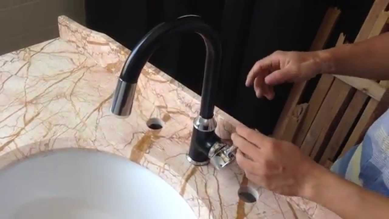 How to install fix a Led Kitchen faucet Black Paintin Kitchen Sink ...