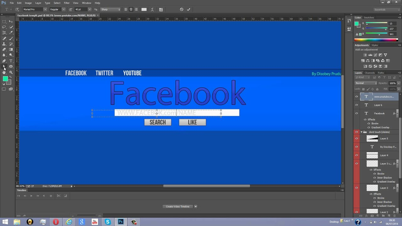 facebook page header template - free facebook youtube banner psd template 2014 youtube