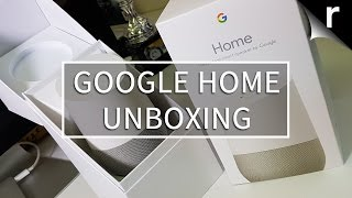 Google Home Unboxing (UK model)
