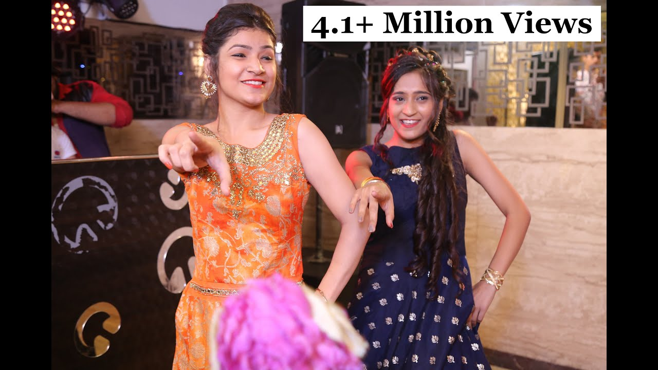 f1c43dfb5c1 Groom s Sisters Dance Performance on Engagement - long lachi + wedding da  season + nachde tapde