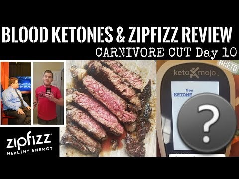 FIRST EVER Blood Ketone Test | Zipfizz Review | CARNIVORE