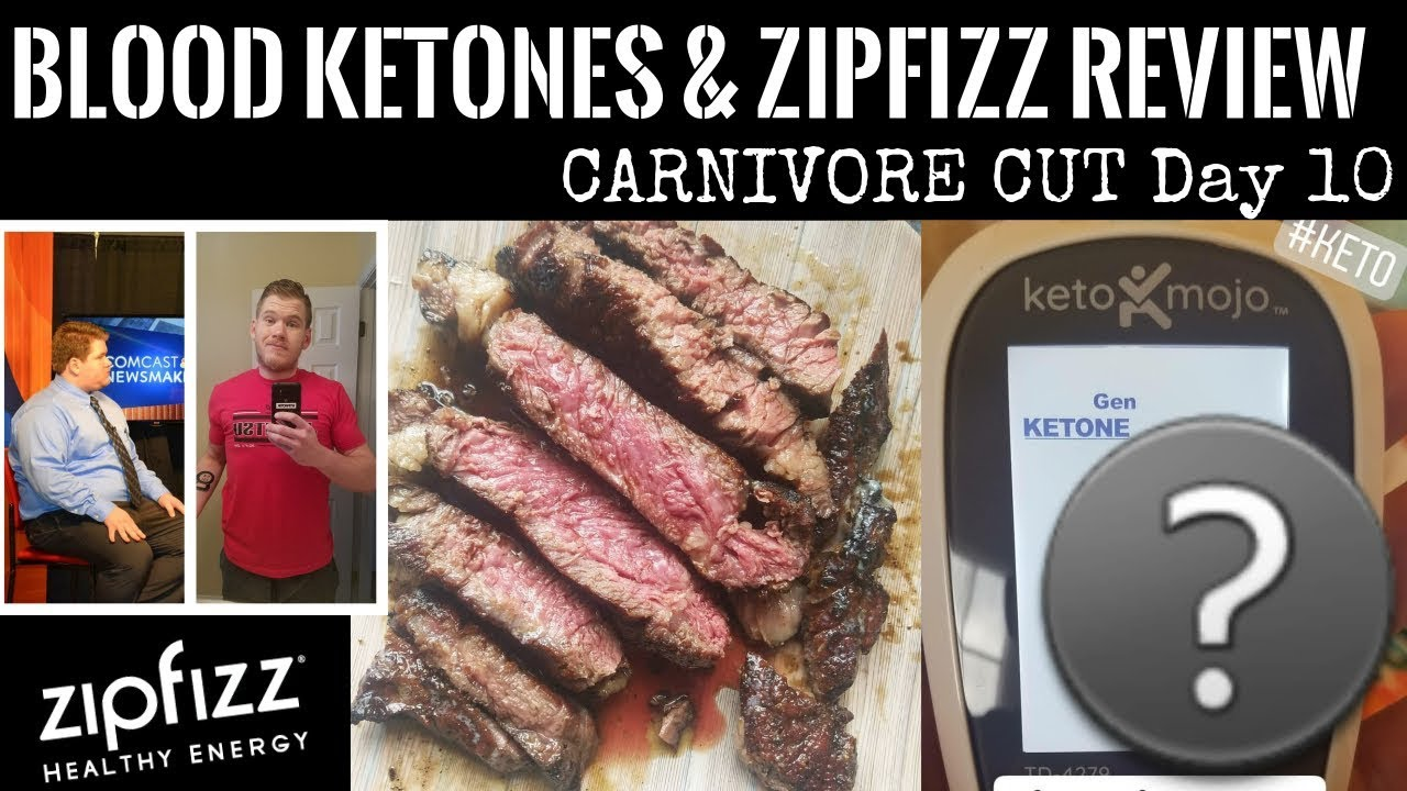 FIRST EVER Blood Ketone Test | Zipfizz Review | CARNIVORE CUT Day 10 |  Carnivore, Zero Carb, Keto