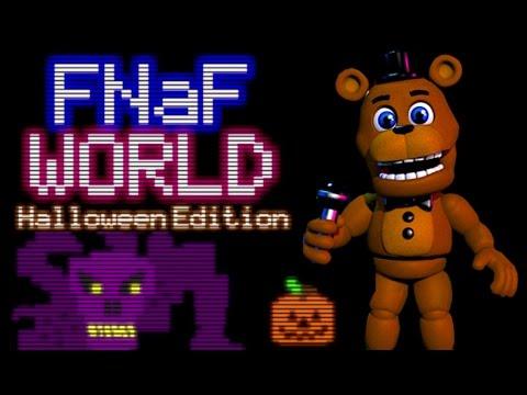 FREDDY PLAYS: FNAF World - Halloween Edition || SCOTT TROLLS FREDDY!