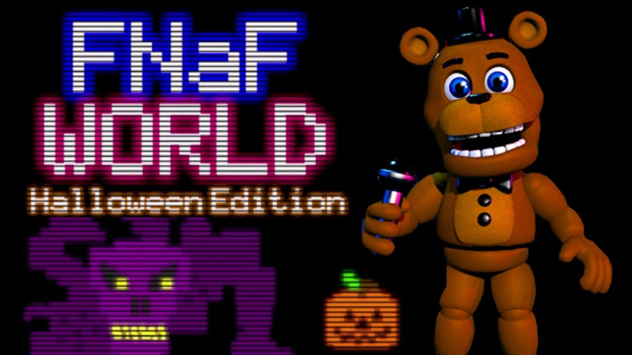 FREDDY PLAYS: FNAF World - Halloween Edition || SCOTT TROLLS ...