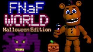 FREDDY PLAYS: FNAF World - Halloween Edition    SCOTT TROLLS FREDDY!