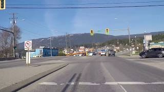 Driving to Salmon Arm BC Canada - Small City/Town - Easy Living