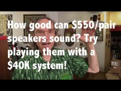 How crazy Is It to play a $40k audio system with $550 speakers?
