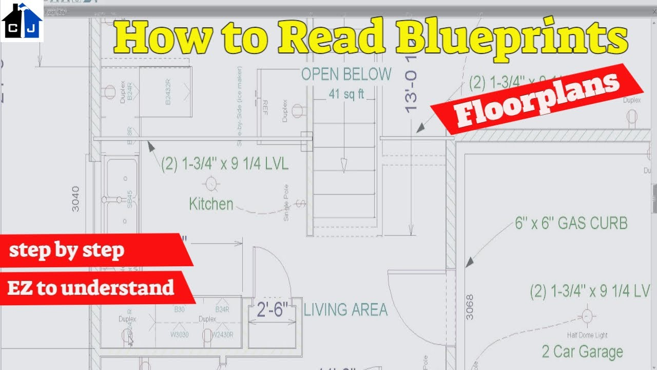 Residential blueprints understanding the floorplan youtube malvernweather Images