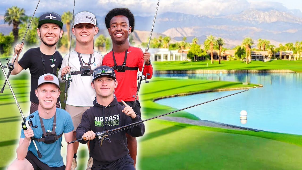 Fishing EVERY Golf Course POND! (Youtuber Edition)