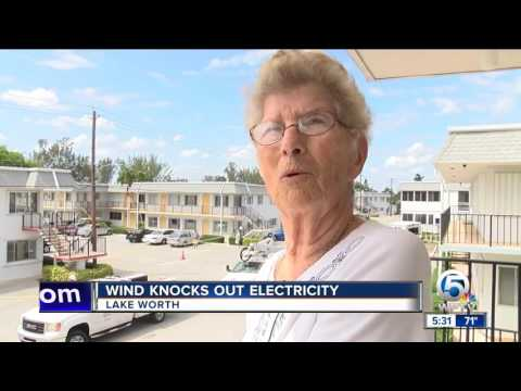 Wind knocks out electricity