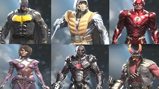 Injustice 2 - All Character Epic Gear Sets  ❮ All DLC Characters Included ❯