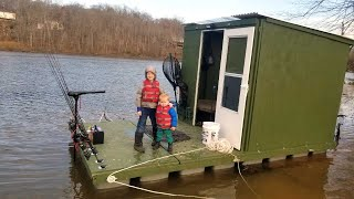 Carp Fishing in Floating Fishing Cabin - How to Catch Carp in Spring: Bait, Gear, Tips and More.