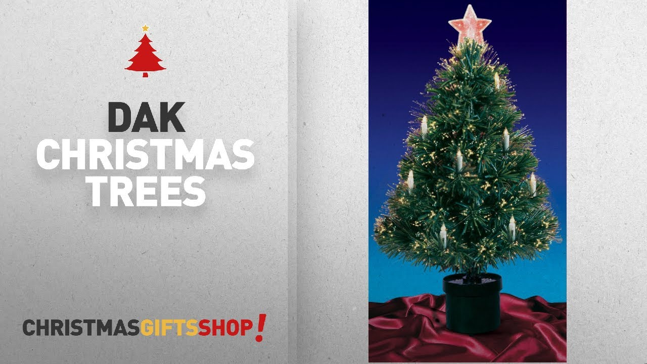 Christmas Trees By Dak: 3' Pre-Lit Fiber Optic Artificial