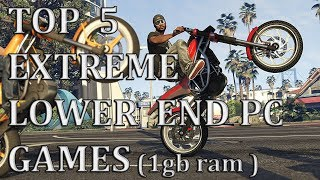 Top 5 Extreme Lower End PC Games