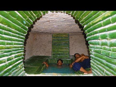 Dig Cliff to build Mini Bathtub Pool in Underground Secret House