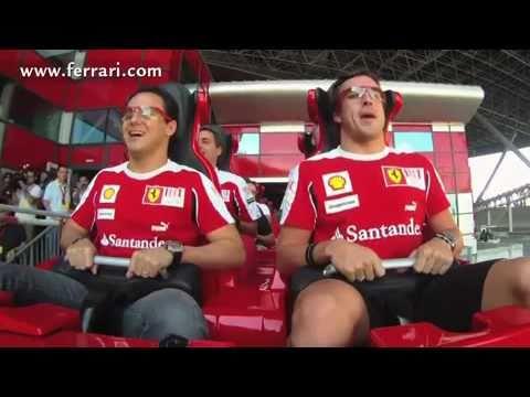 Alonso and Massa at Ferrari World in Abu Dhabi, United Arab Emirates