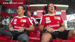 Alonso and Massa at Ferrari World in Abu Dhabi, United Arab Emirates