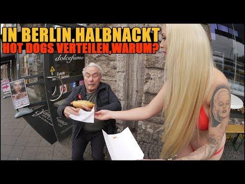IN BERLIN, HALBNACKT HOTDOGS VERTEILEN, WARUM??   VLOG  | LUCY CAT
