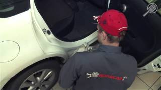 Обработка резиновых уплотнителей автомобиля от обледенения
