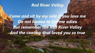RED RIVER VALLEY Lyrics Words Text cowboy folk music sing along song