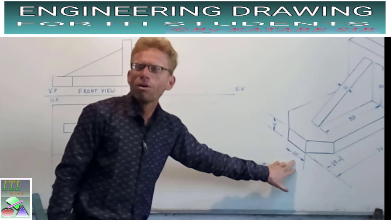 First Angle Projection 2 Youtube Iti Electrician Diagram Engineering Drawing