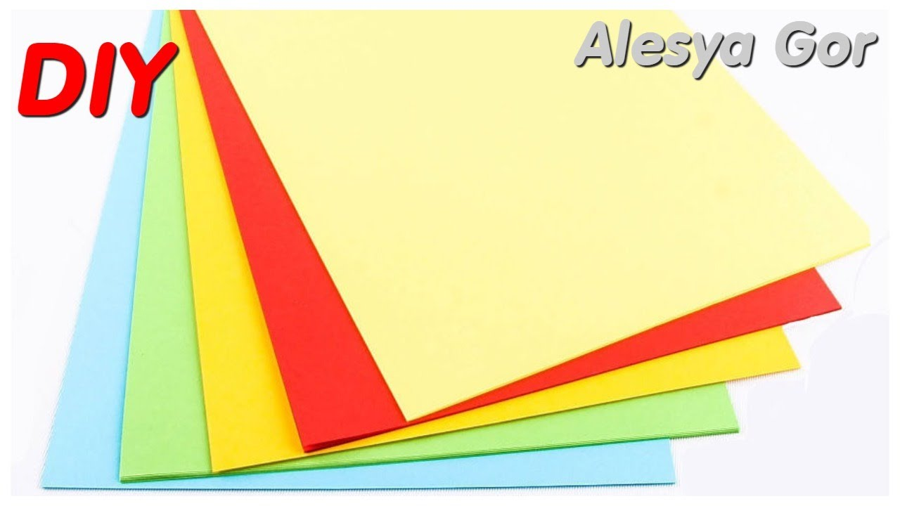 😍 3 НЕВЕРОЯТНО КРАСИВЫЕ идеи ПОДЕЛОК из ЦВЕТНОГО КАРТОНА своими руками. DIY ideas CRAFT. Alesya Gor