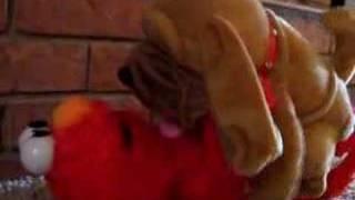 Crazy Dog humping Tickle Me Elmo