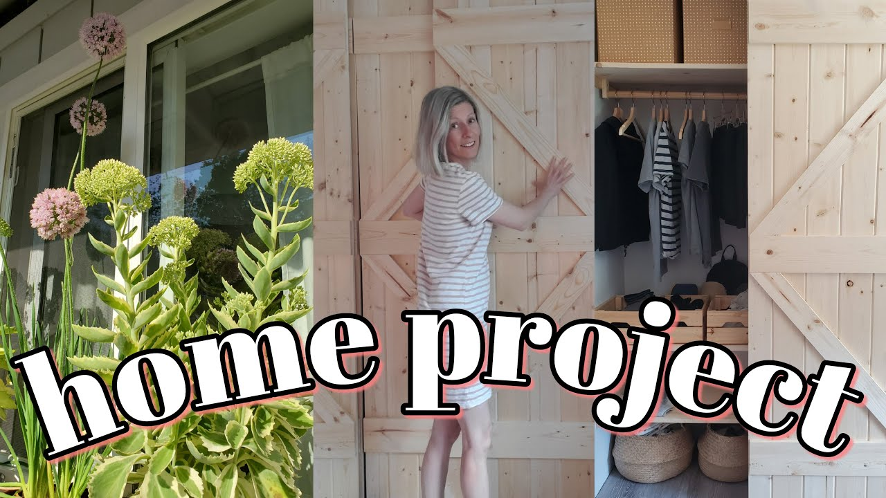 NEW HOME PROJECT making a barn door -simple living