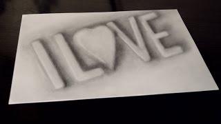 Объемное 3D граффити I LOVE(Как нарисовать 3D надпись , графити. ПРОСТЫЕ 3D рисунки - http://goo.gl/prTuyA 3D РИСУНКИ -http://goo.gl/B1Ojux КАК РИСОВАТЬ каранд..., 2016-08-29T11:55:48.000Z)