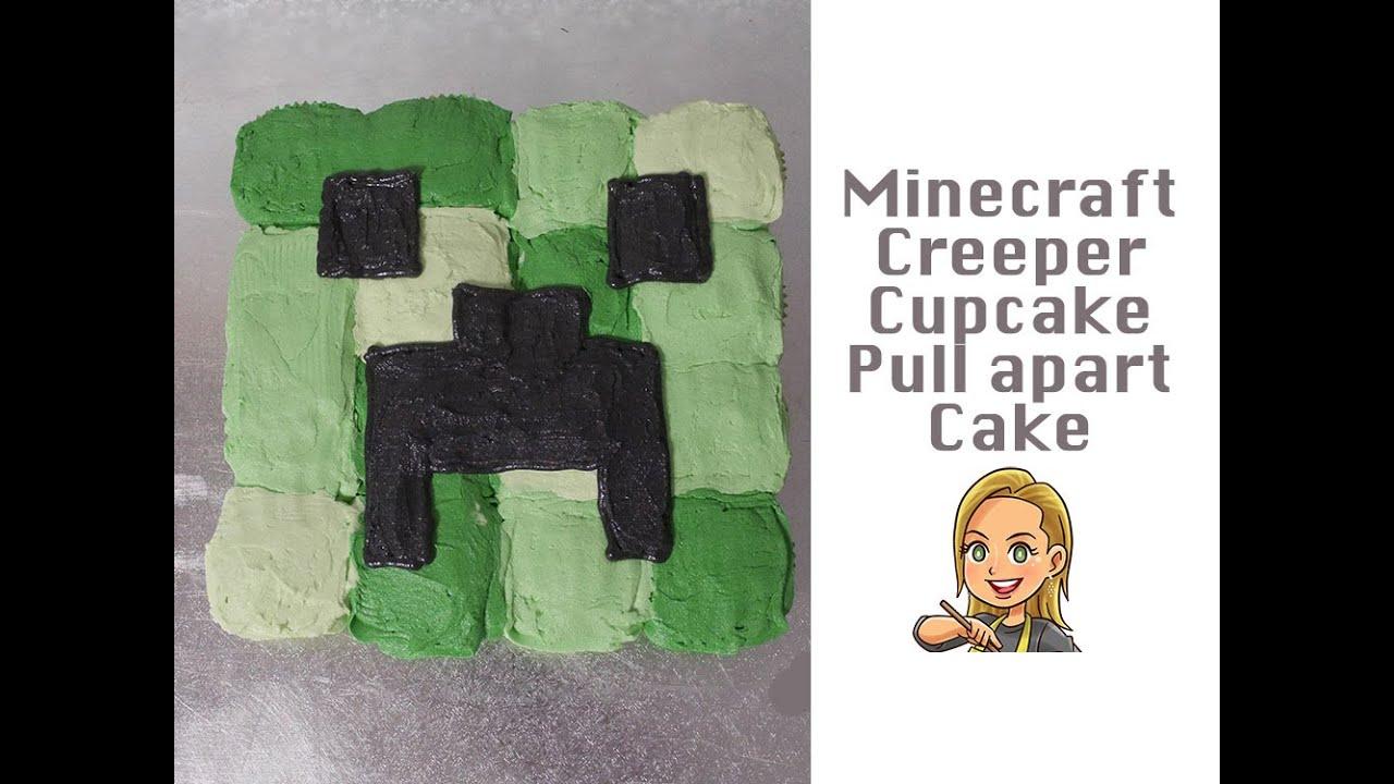 Minecraft Creeper Pull Apart Cupcake Cake Youtube