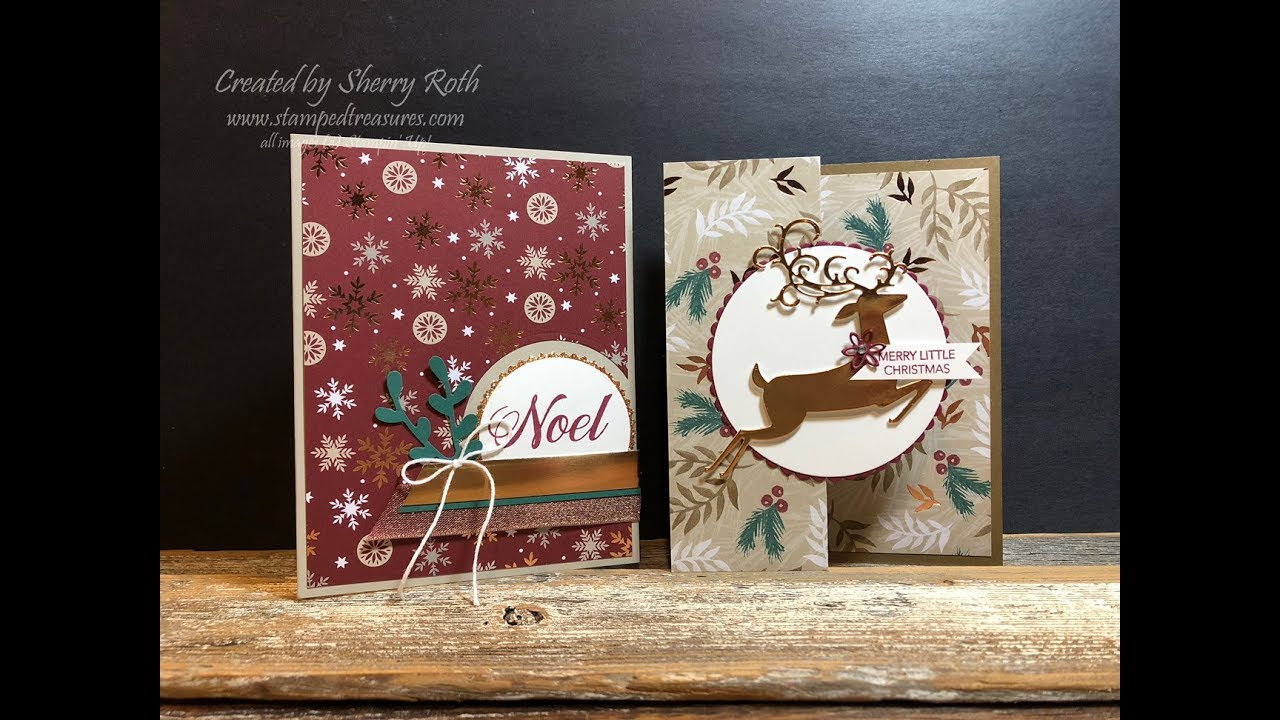 Christmas Cards Using The Peaceful Noel Bundle From Stampin Up