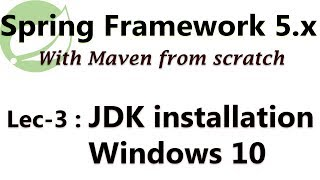 Java JDK installation and environment variable setup on windows 10