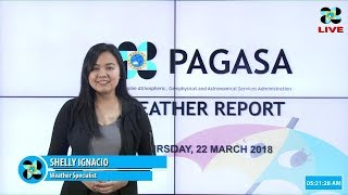 Public Weather Forecast Issued at 4:00 AM March 22, 2018