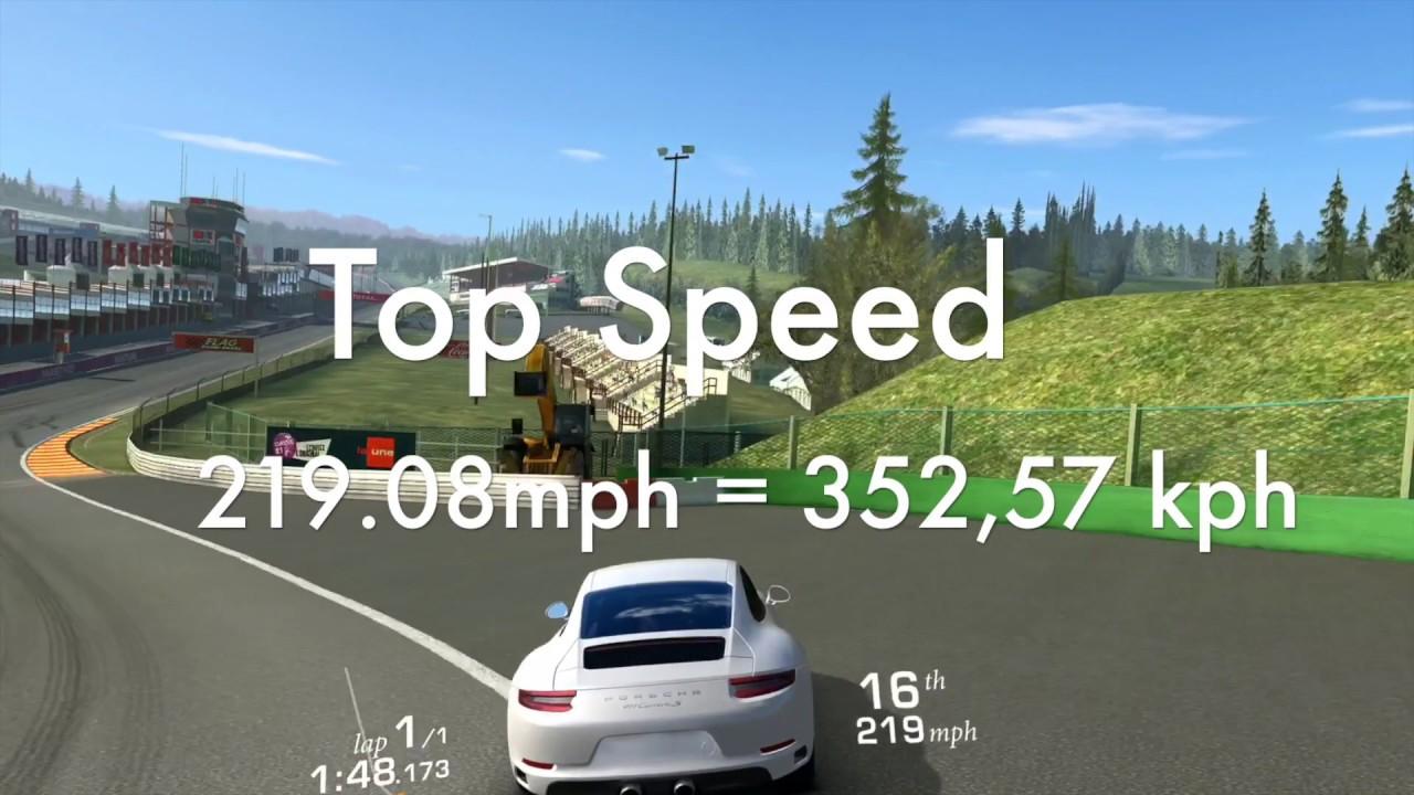 RR3 Top Speed Porsche 911 Carrera S Spa-Francorchamp (R) - 219,08 ...