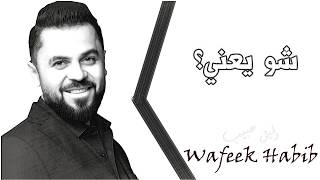 وفيق حبيب _ شو يعني ؟ _ Wafeek Habib _ Shu Yaany ?  _ ( Lyrics Video )
