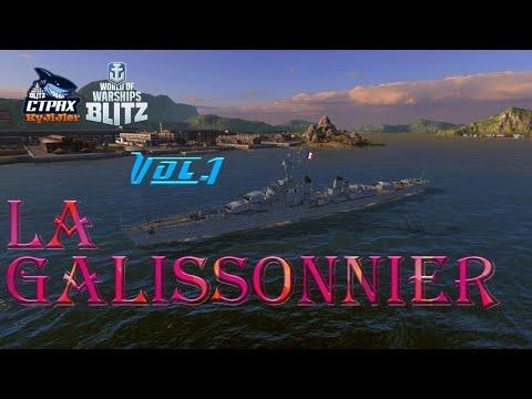 WOWS BLITZ флот СТРАХ: La Galissonniere VI
