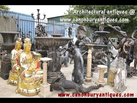Canonbury Antiques HD Video Tour of Architectural Antiques and Bronze Section