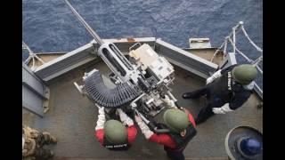 菲律賓海 - 美國導彈驅逐艦 & 巡洋艦執行巡防任務 ( 資料來源 : US Navy ) By Audrey Deng