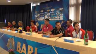 22-09-2014: fivbwomenswch Press Conference - BARI - Gert Vande Broek (Belgium)