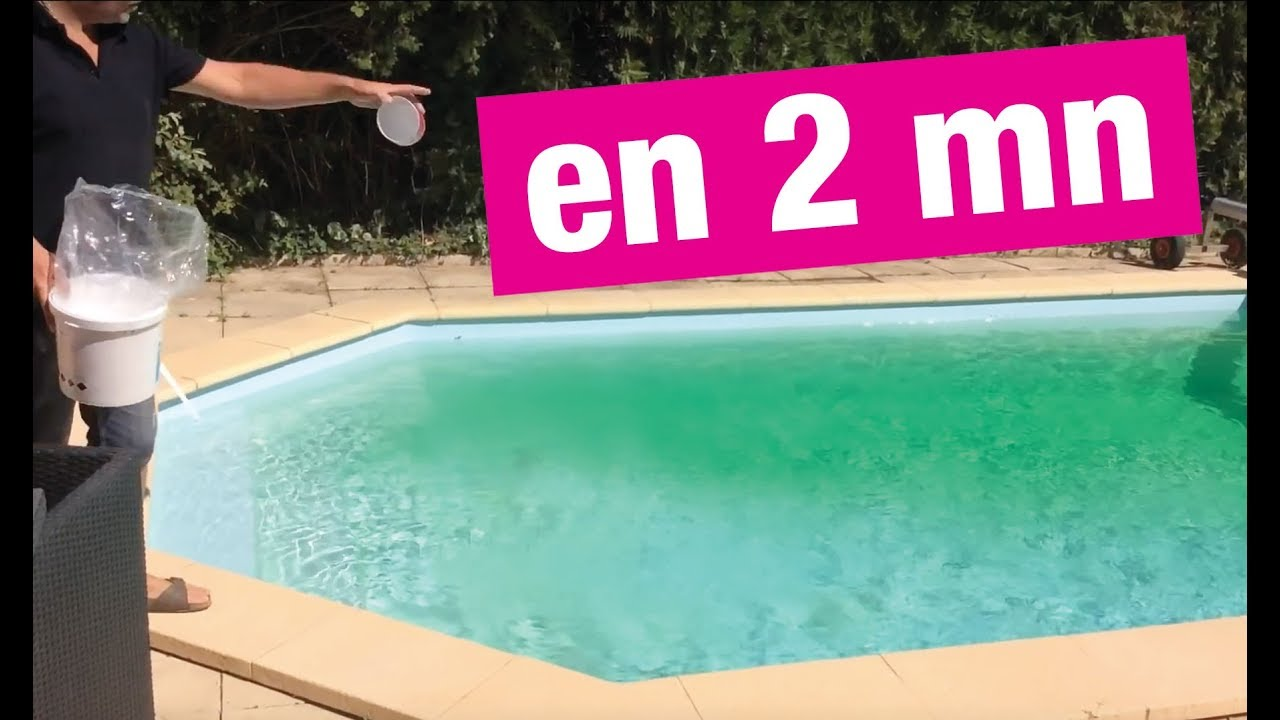 Eau de piscine verte produit miracle youtube for Eau trouble piscine