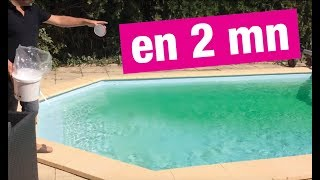 Eau de piscine verte PRODUIT MIRACLE !!! thumbnail