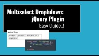 Multiselect Dropdown Jquery Ajax