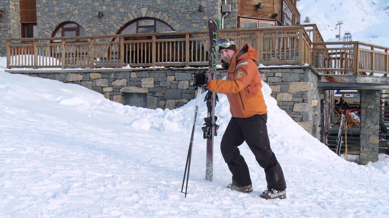How To Walk On Snow - Beginner Ski Lesson - YouTube