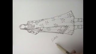 How to draw kurta pattern.