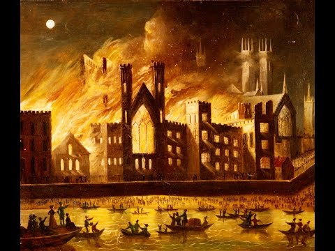 The Burning of the Palace of Westminster - The Great London Fire of 1834